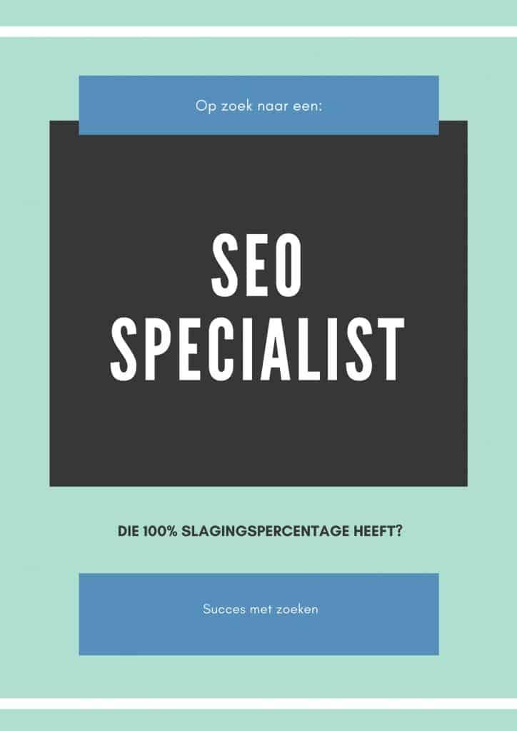 op zoek naar SEO specialist