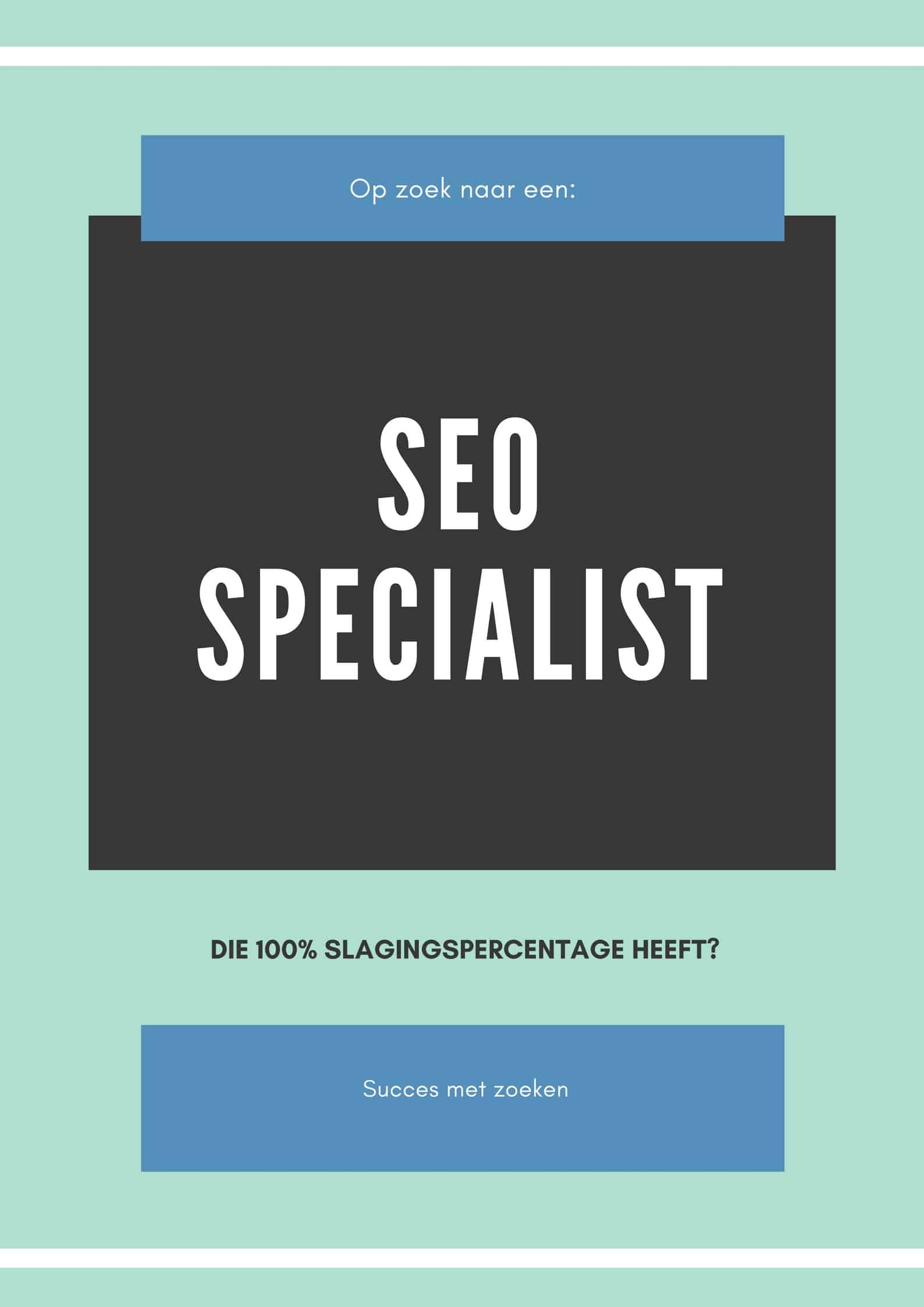 SEO specialist affiche