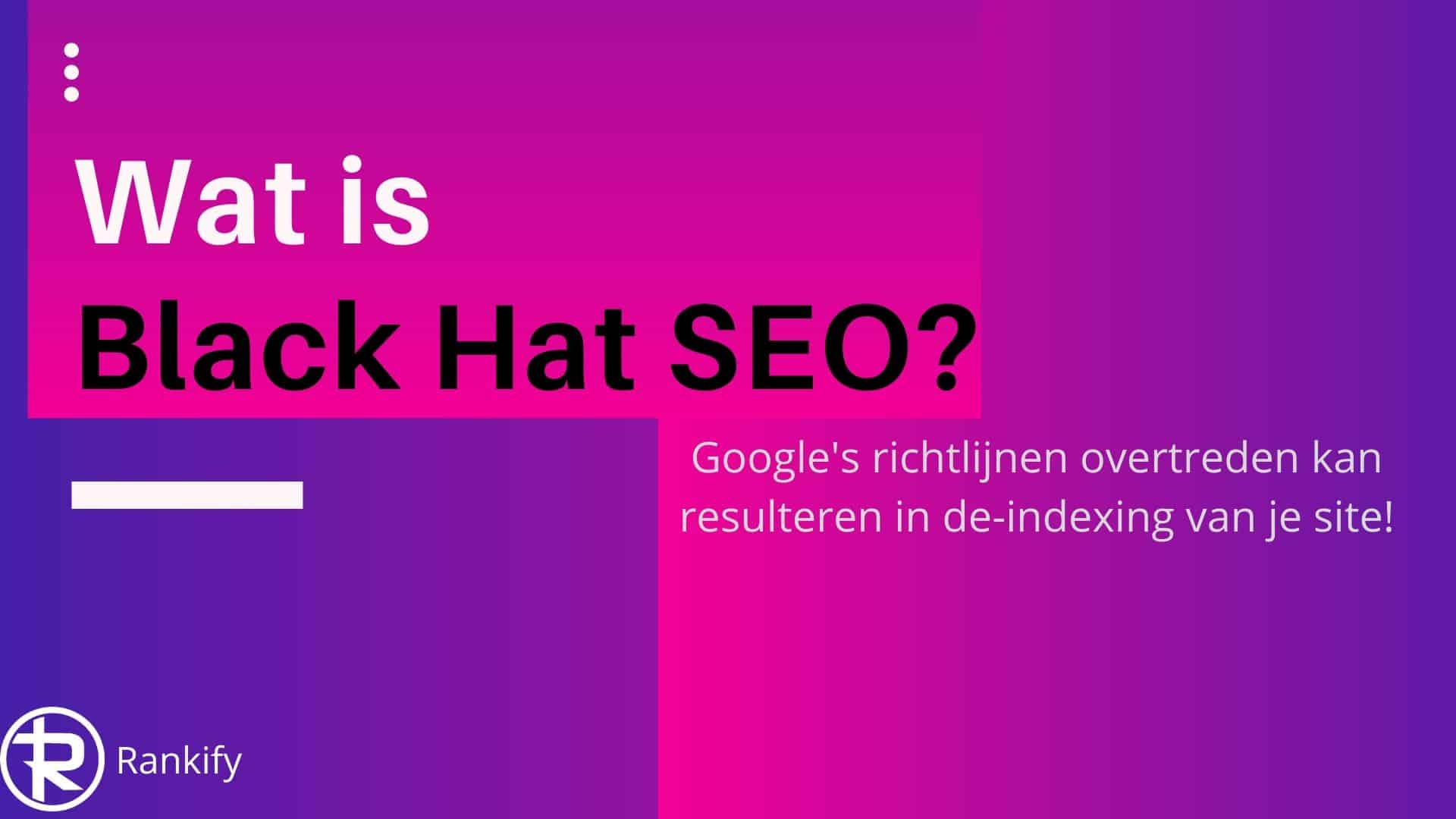 wat is black hat seo