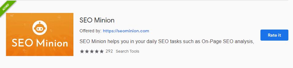 seo minion voor google chrome
