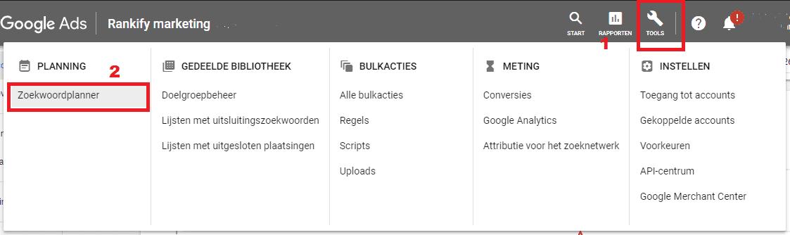 google-zoekwoordplanner