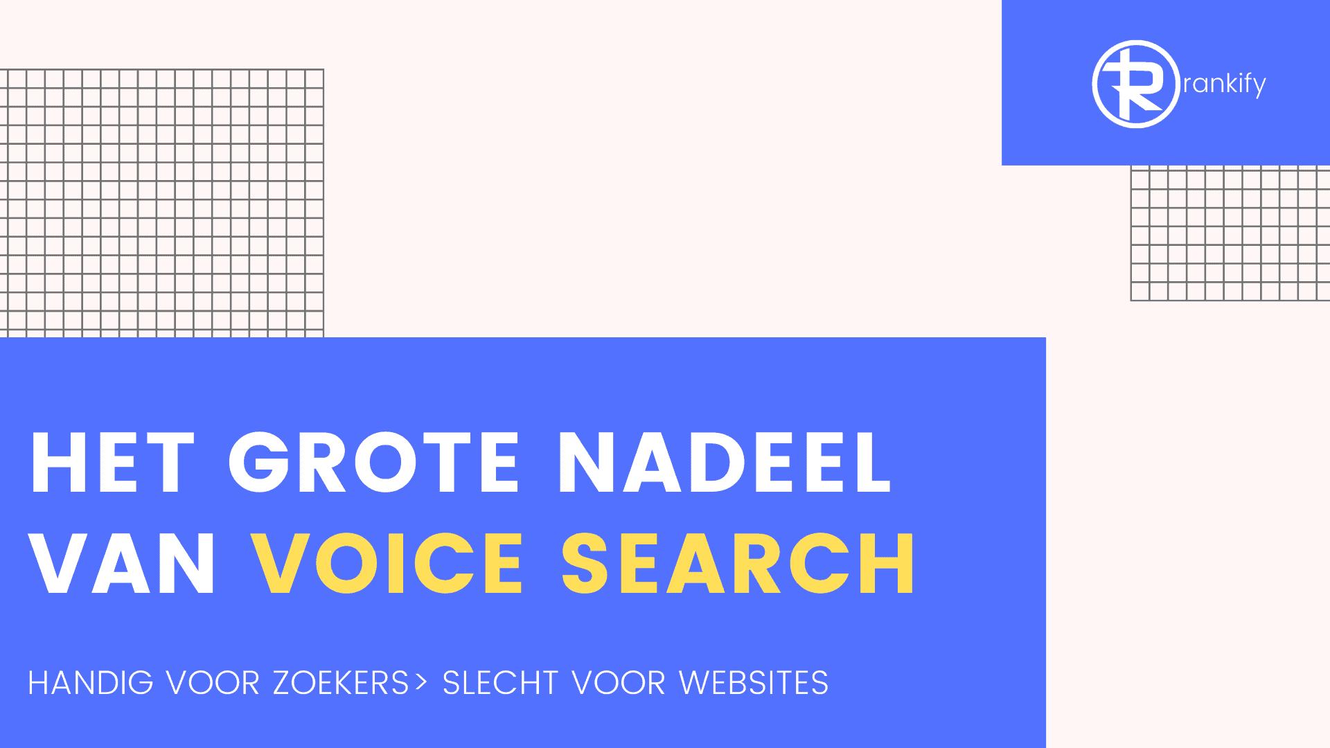 het grote nadeel van voice search