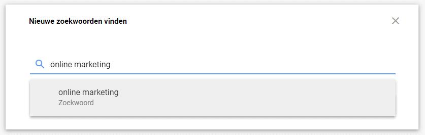 nieuwe zoekwoorden vinden